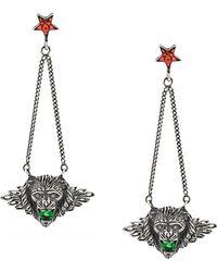 Iosselliani - Leo Head Puro Earrings - Lyst