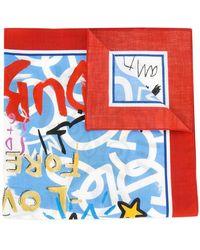 Dolce & Gabbana - Graffiti Print Scarf - Lyst