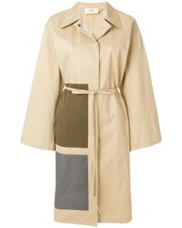 Ports 1961 - Belted Panel Detail Coat - Lyst
