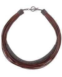 Brunello Cucinelli Layered Rope Necklace - Brown