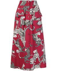 Ultrachic - Cat Print Skirt - Lyst