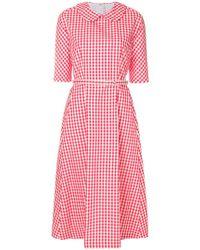 Comme des Garçons - Belted Vichy Dress - Lyst