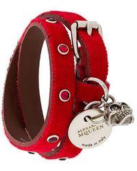 Alexander McQueen - Logo Tag Double-cuff Bracelet - Lyst
