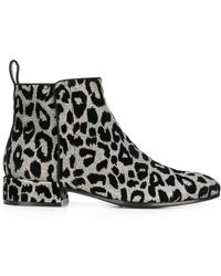 Dolce & Gabbana - Leopard Ankle Boots - Lyst