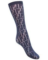 Fendi - Semi-transparent Logo Socks - Lyst