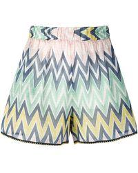 M Missoni - High Rise Zigzag Print Shorts - Lyst