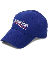 Balenciaga - Men's Logo Cap - Blue - Lyst