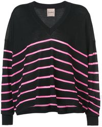 Nude | Striped V-neck Sweater | Lyst