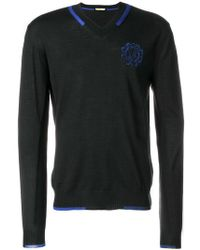 Versace Jeans - V-neck Classic Jumper - Lyst