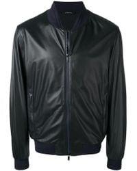 Z Zegna - Leather Bomber Jacket - Lyst