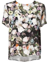 Adam Lippes Floral Short-sleeve Top