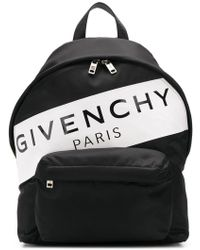 Givenchy - Black Band Logo Urban Backpack - Lyst