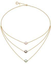 Fendi - Rainbow Chain Necklace - Lyst