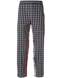 Gosha Rubchinskiy - Checked Cropped Trousers - Lyst