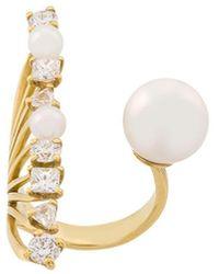 Ileana Makri - 18kt Yellow Gold Diamond Reef Ring - Lyst