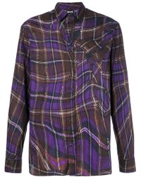 Just Cavalli - Abstract Checked Shirt - Lyst