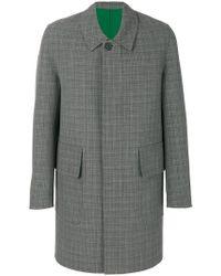 AMI - Checked Coat - Lyst
