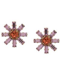 Ca&Lou | Crystal Embellished Flower Earrings | Lyst