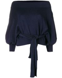 Palmer//Harding - Knot Off The Shoulder Jumper - Lyst