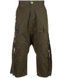 Mostly Heard Rarely Seen - Cropped Cargo Trousers - Lyst