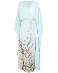Vionnet - Sheer Wrap Style Front Dress - Lyst