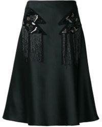 Versus - A-line Sequin Panelled Skirt - Lyst