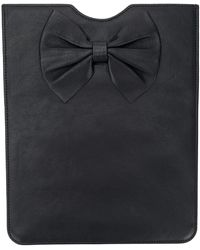 RED Valentino Bow Detail Tablet Case - Black