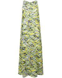 M Missoni - Printed Maxi Dress - Lyst