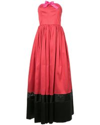 Alexis Mabille - Colour Block Strapless Gown - Lyst