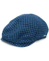 Lardini - Check Patterned Hat - Lyst