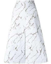 Andrea Marques - All-over Print Skirt - Lyst