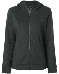 Armani Jeans - Signature Embroidery Zipped Hoodie - Lyst