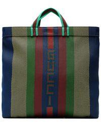 Gucci - Multicoloured Logo Stripe Tote - Lyst