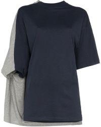 Y. Project - Bi Colour Double Sleeve Cotton T Shirt - Lyst