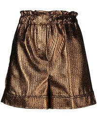 Nude - High-waisted Shorts - Lyst