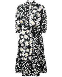 b1b5f679392 Lyst - Chinti   Parker Black Lucky Clover Silk Shirt Dress in Black