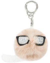 Karl Lagerfeld - K/ikonik Fur Keychain - Lyst