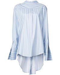 Monse - Striped Reversed Shirt - Lyst
