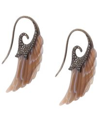 Noor Fares - Fly Me To The Moon Wing Earrings - Lyst