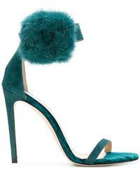 Benedetta Boroli - Cleo Mink Fur Heeled Sandals - Lyst