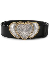 KATE CATE - Triple Heart Buckle Belt - Lyst