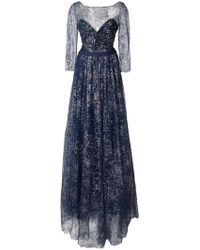 Notte by Marchesa | Flared Embroidered Maxi Dress | Lyst