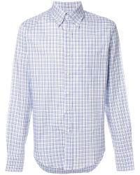 Prada - All Designer Products - Checked Button-down Shirt - Lyst