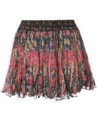 Mes Demoiselles - Floral Print Mini Skirt - Lyst