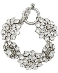 Oscar de la Renta - Jewelled Bracelet - Lyst