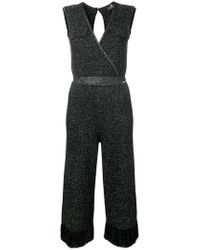 Elisabetta Franchi - Knitted Sleeveless Jumpsuit - Lyst