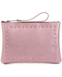 Gum - Stud Detailed Clutch Bag - Lyst