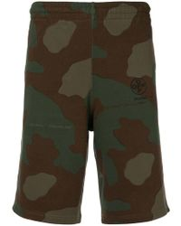 Off-White c/o Virgil Abloh - Shorts deportivos con motivo militar - Lyst
