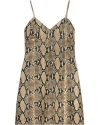 Gucci - Python Print Leather Dress - Lyst