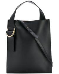 Jil Sander Navy - Leather Satchel Bag - Lyst